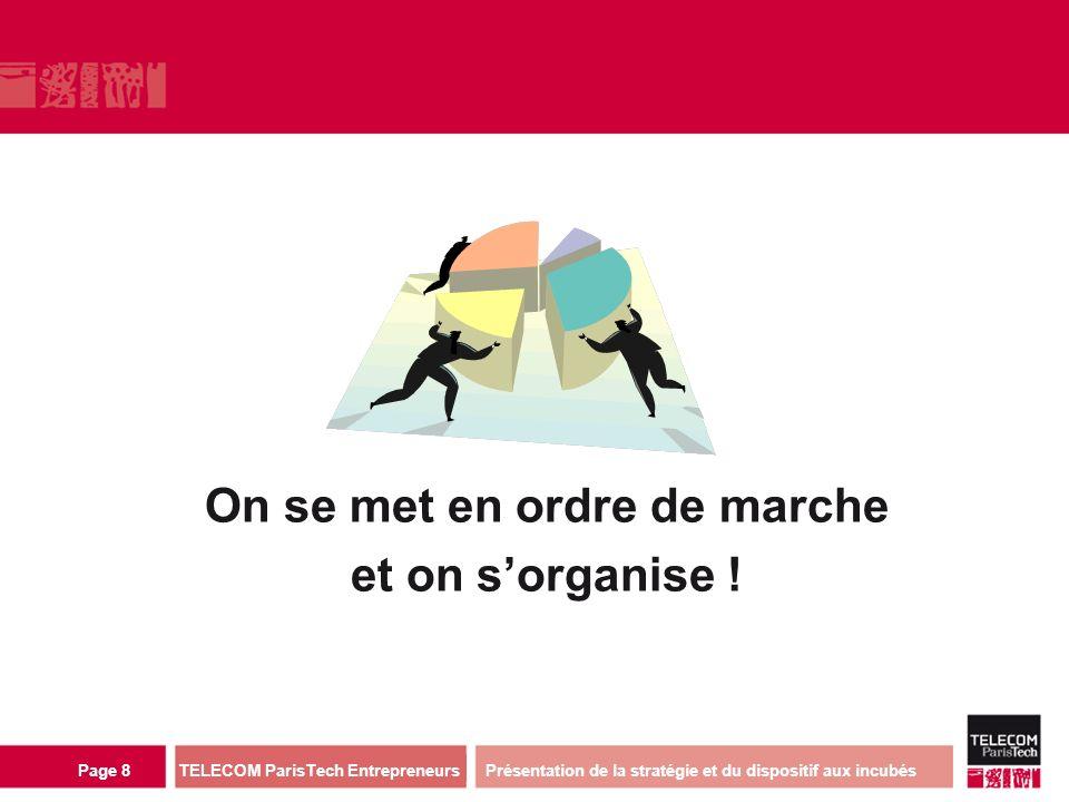 direction ou services TELECOM ParisTech Entrepreneurs Page 8 On se met en ordre de marche et on sorganise .
