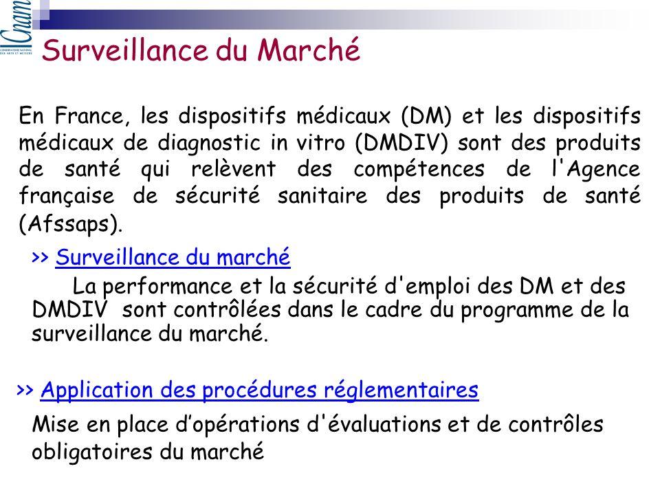 En France, les dispositifs médicaux (DM) et les dispositifs médicaux de diagnostic in vitro (DMDIV) sont des produits de santé qui relèvent des compét