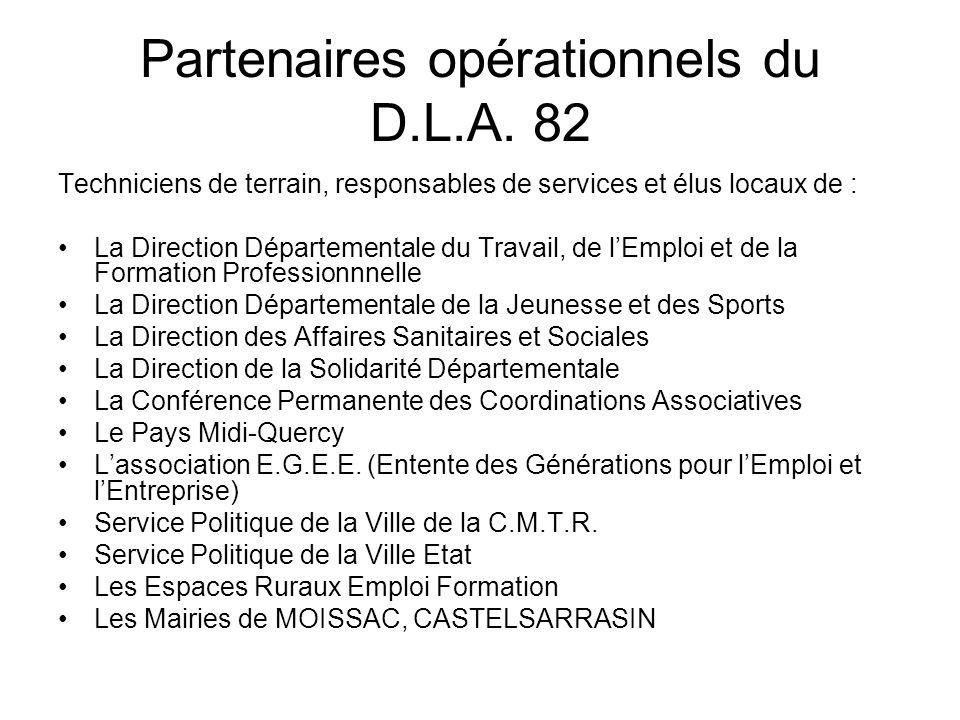 Partenaires opérationnels du D.L.A.
