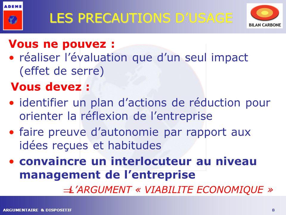 9ARGUMENTAIRE & DISPOSITIF LES LEVIERS POUR AGIR LE CHANGEMENT CLIMATIQUE LE CONTEXTE REGLEMENTAIRE ORGANISATIONS PROFESSIONNELLES POUVOIRS PUBLICS MANAGEMENT ENVIRONNEMENTAL DEVELOPPEMENT DURABLE … RISQUE ECONOMIQUE « COUT CARBONE »
