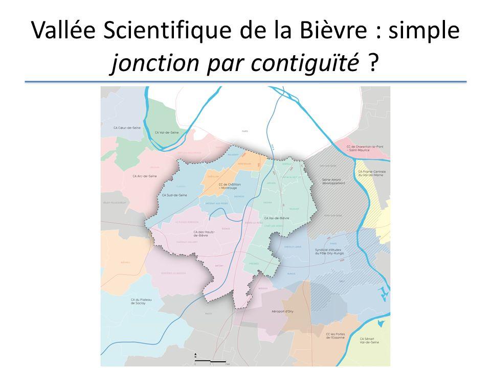 Vallée Scientifique de la Bièvre : simple jonction par contiguïté ?