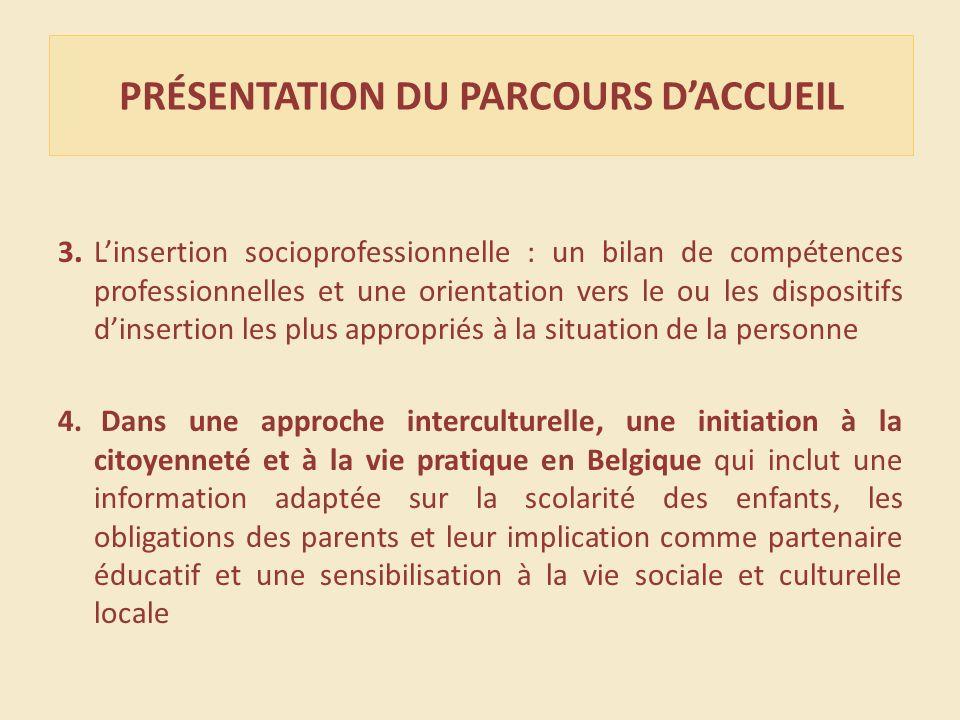 PRÉSENTATION DU PARCOURS DACCUEIL 3.