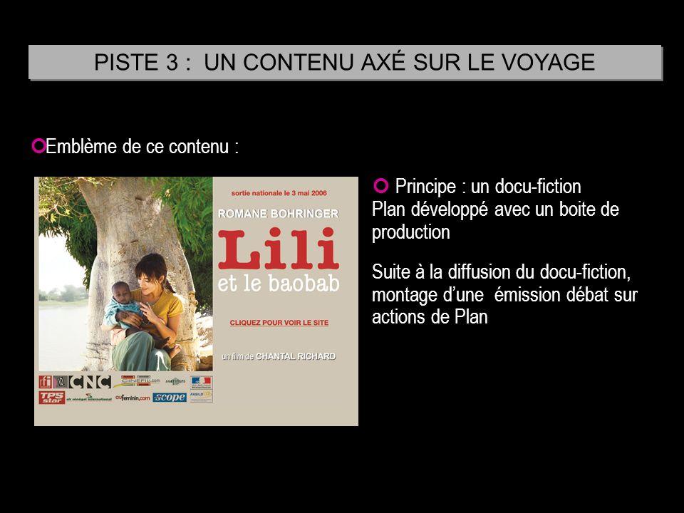 Emblème de ce contenu : Principe : un docu-fiction Plan développé avec un boite de production Suite à la diffusion du docu-fiction, montage dune émiss