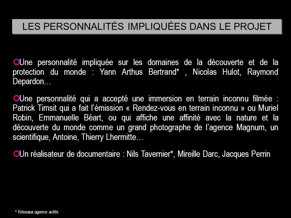 Une personnalité impliquée sur les domaines de la découverte et de la protection du monde : Yann Arthus Bertrand*, Nicolas Hulot, Raymond Depardon… Un