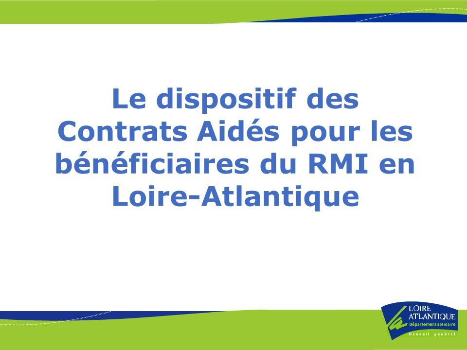 Le dispositif des Contrats Aidés pour les bénéficiaires du RMI en Loire-Atlantique