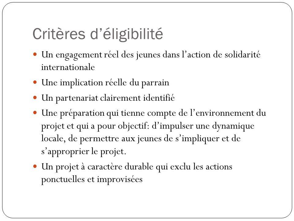 Les critères, suite….