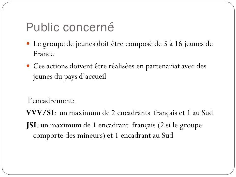 Public concerné Le groupe de jeunes doit être composé de 5 à 16 jeunes de France Ces actions doivent être réalisées en partenariat avec des jeunes du