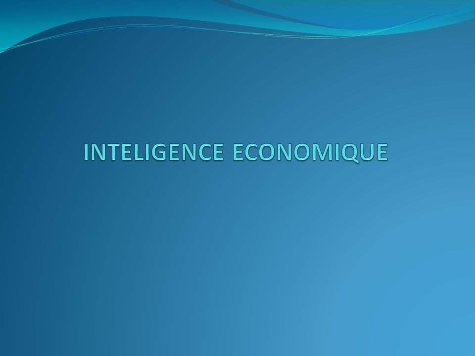 PLAN Introduction Définition Modèle d inteligence économique dans le monde Japon Allemagne USA Enjeux stratégiques de lintelligence économique Enjeux politiques Enjeux technologiques Exemple Dans le domaine de linformatique Eléments de stratégies pour la mise en place dun dispositif dintelligence Economique Conclusion