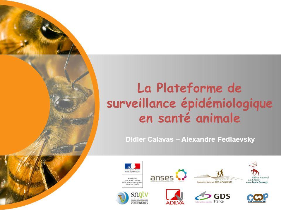 La Plateforme de surveillance épidémiologique en santé animale Didier Calavas – Alexandre Fediaevsky