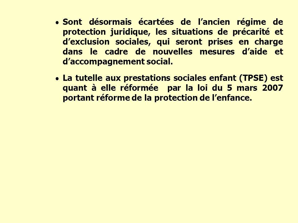 Sont désormais écartées de lancien régime de protection juridique, les situations de précarité et dexclusion sociales, qui seront prises en charge dan