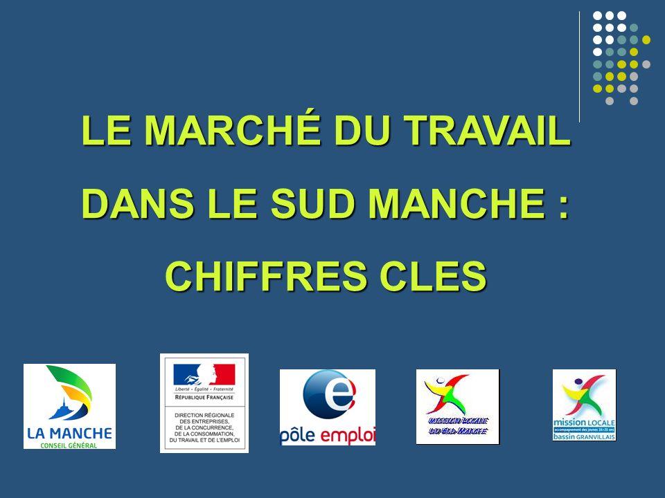 France métropolitaine9,6 Basse-Normandie9,1 Calvados9,6 Manche8,3 Orne9,2 1- Le taux de chômage dans le sud Manche au 1 er semestre 2012