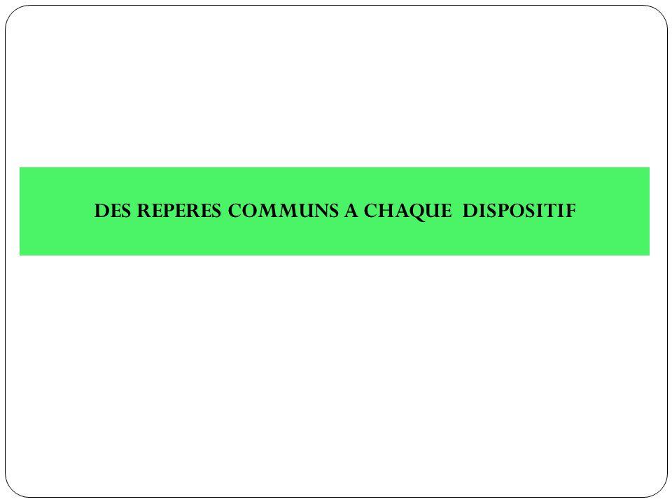 DES REPERES COMMUNS A CHAQUE DISPOSITIF
