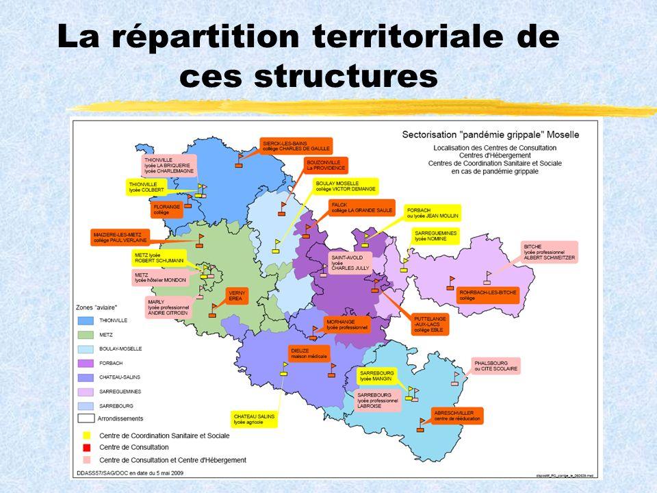 La répartition territoriale de ces structures