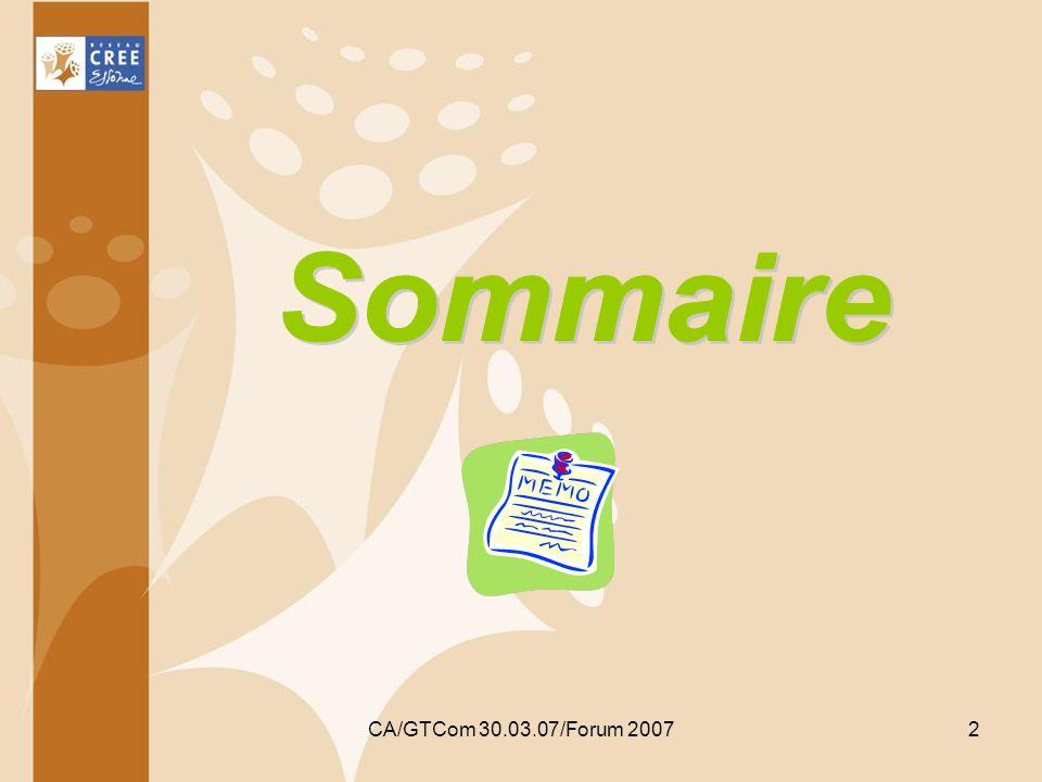 CA/GTCom 30.03.07/Forum 20072