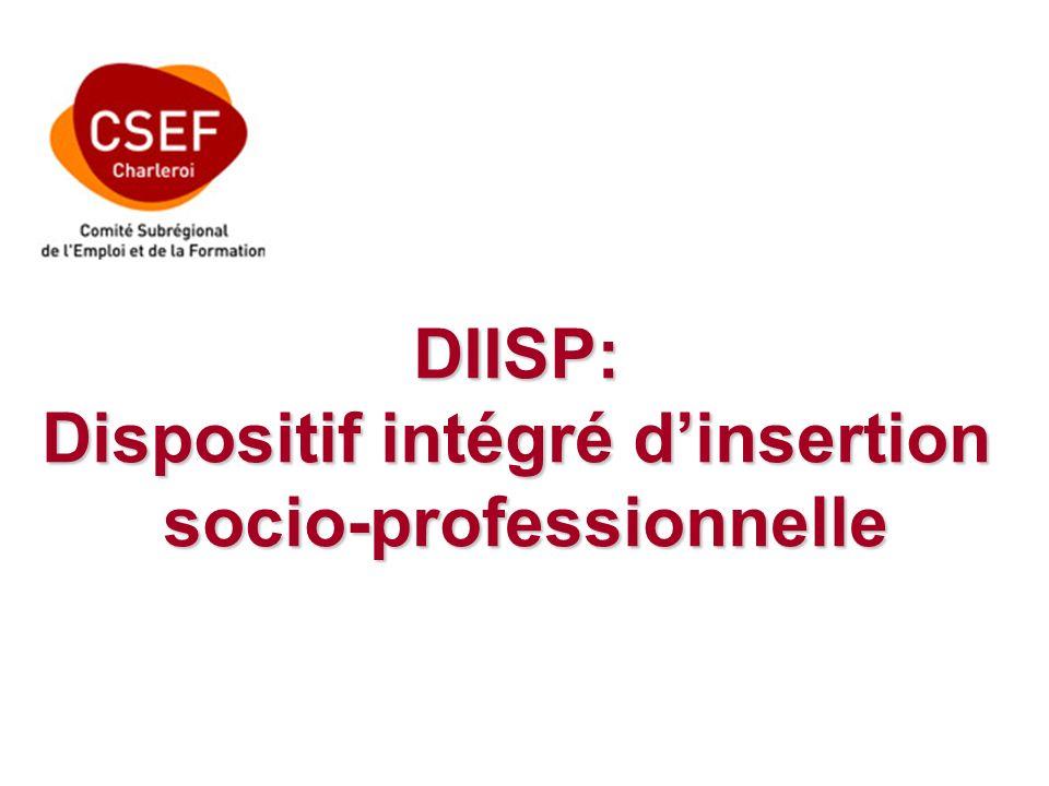 DIISP: Dispositif intégré dinsertion socio-professionnelle