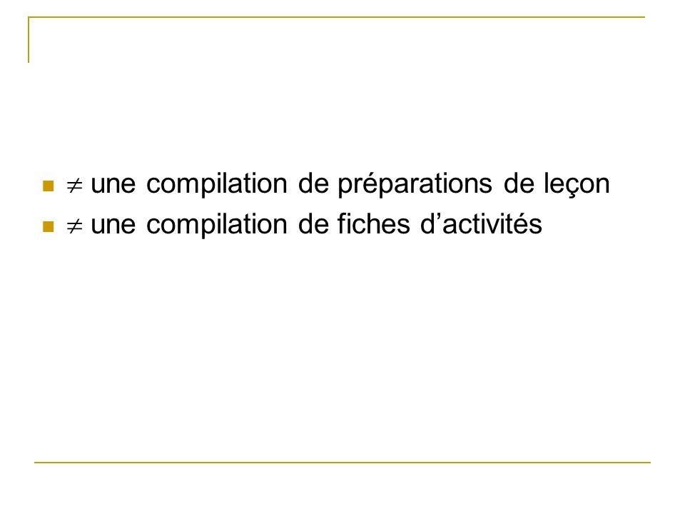 une compilation de préparations de leçon une compilation de fiches dactivités