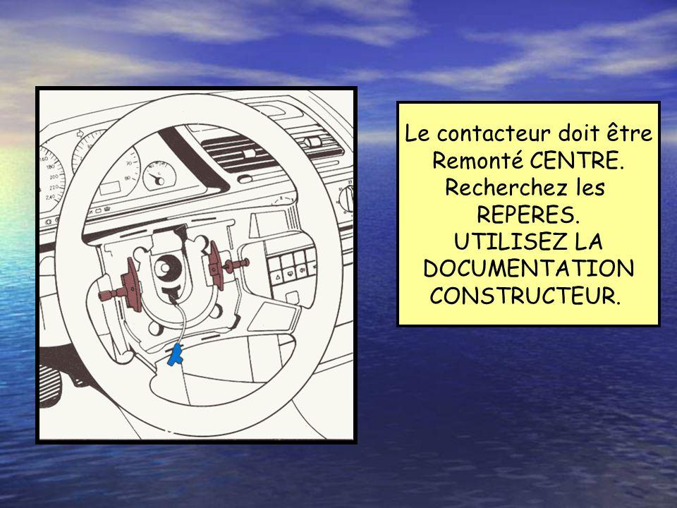 CONTACT TOURNANT Rôle:Réaliser la liaison électrique Entre le calculateur et lair bag Conducteur(faisceau véhicule). Contact air bag Liaison calculate