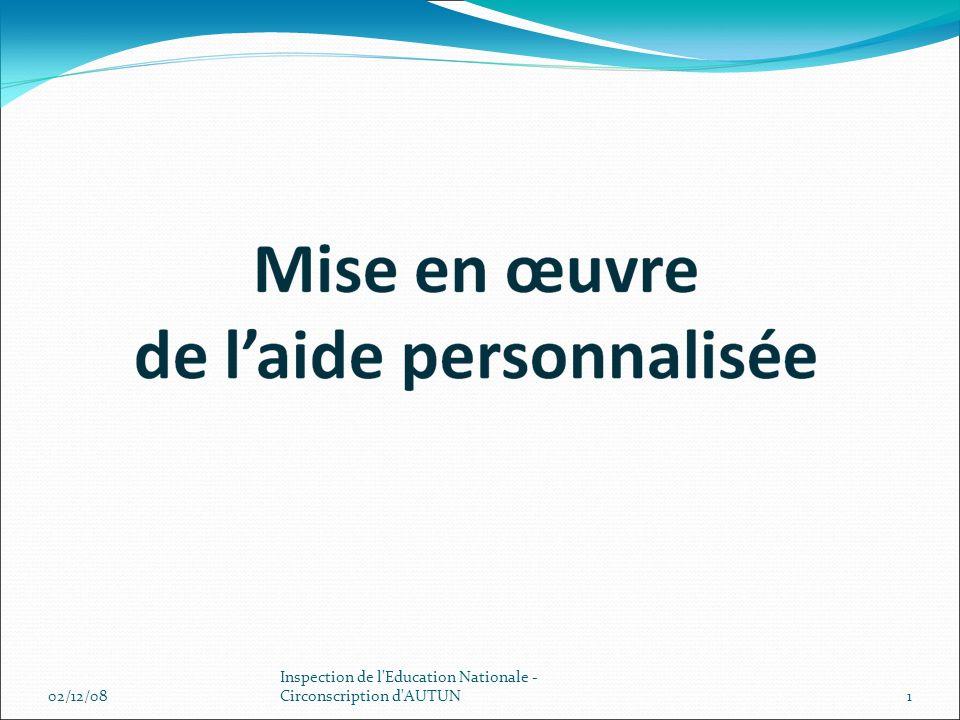 02/12/081 Inspection de l'Education Nationale - Circonscription d'AUTUN