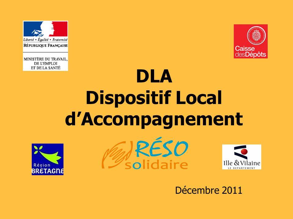 Présentation DLA - 20112 DLA : pour qui .pour quoi .
