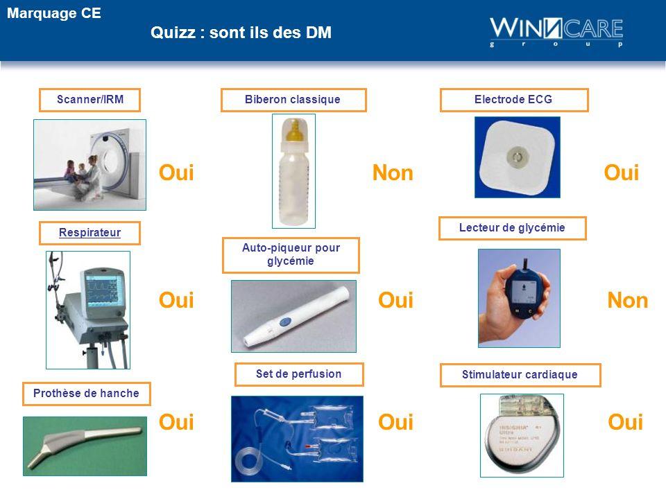 Scanner/IRM OuiNon Biberon classiqueElectrode ECG Oui Respirateur Set de perfusion Prothèse de hanche Auto-piqueur pour glycémie Lecteur de glycémie S