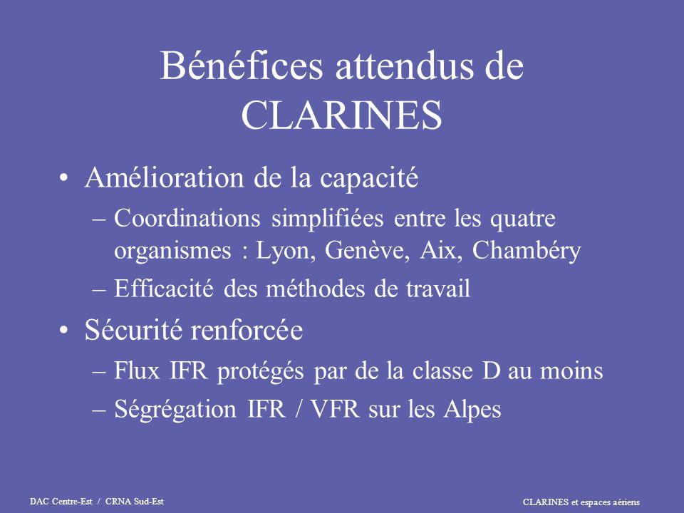 CLARINES et espaces aériens DAC Centre-Est / CRNA Sud-Est Bons vols !