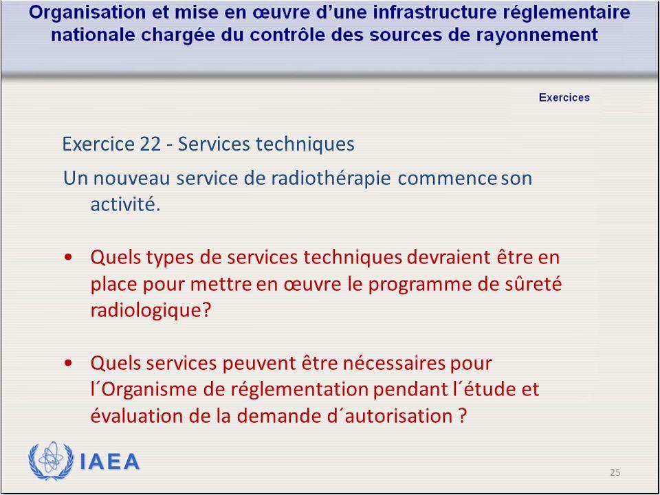25 Un nouveau service de radiothérapie commence son activité.