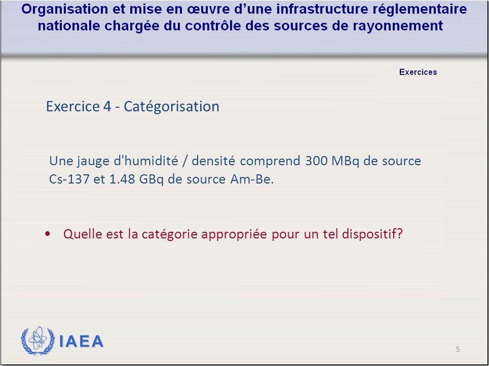 5 Une jauge d humidité / densité comprend 300 MBq de source Cs-137 et 1.48 GBq de source Am-Be.