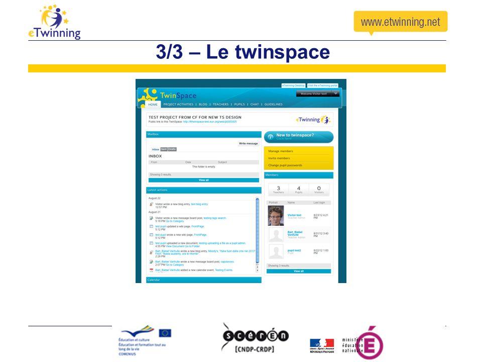 3/3 – Le twinspace