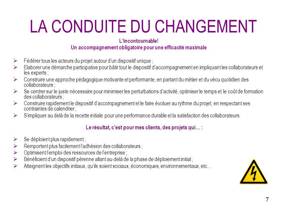 7 LA CONDUITE DU CHANGEMENT Lincontournable.