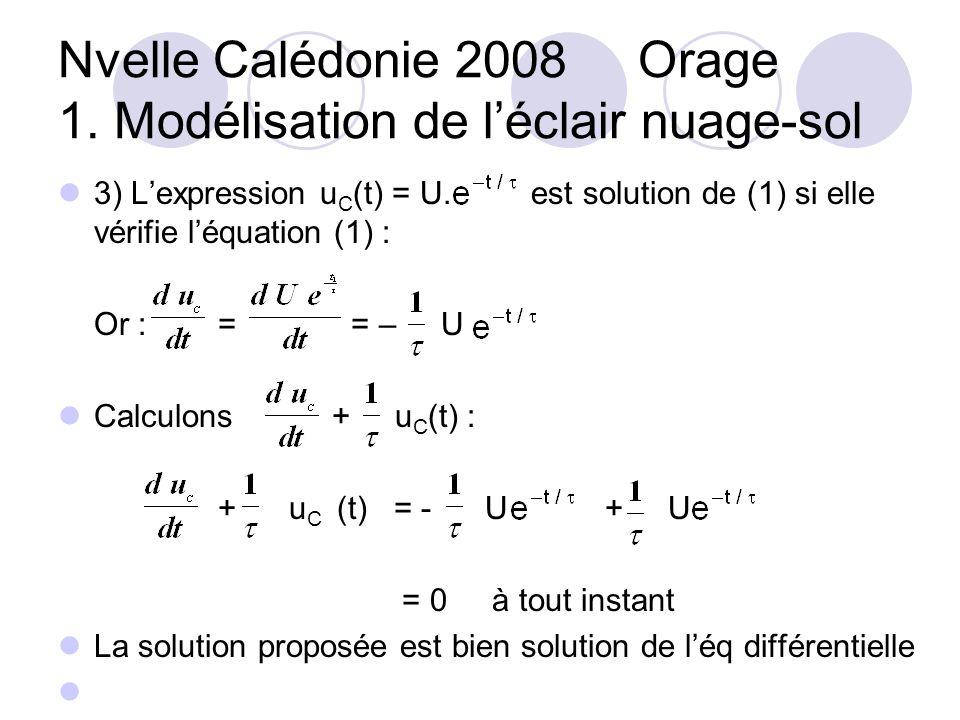 3) Lexpression u C (t) = U.