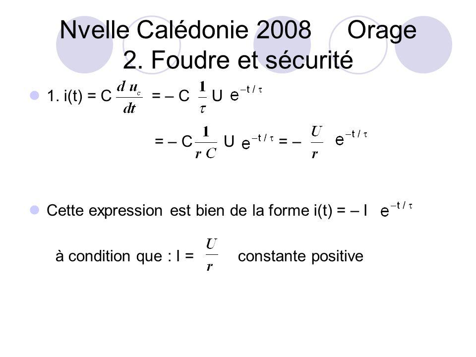 Nvelle Calédonie 2008 Orage 2.Foudre et sécurité 1.