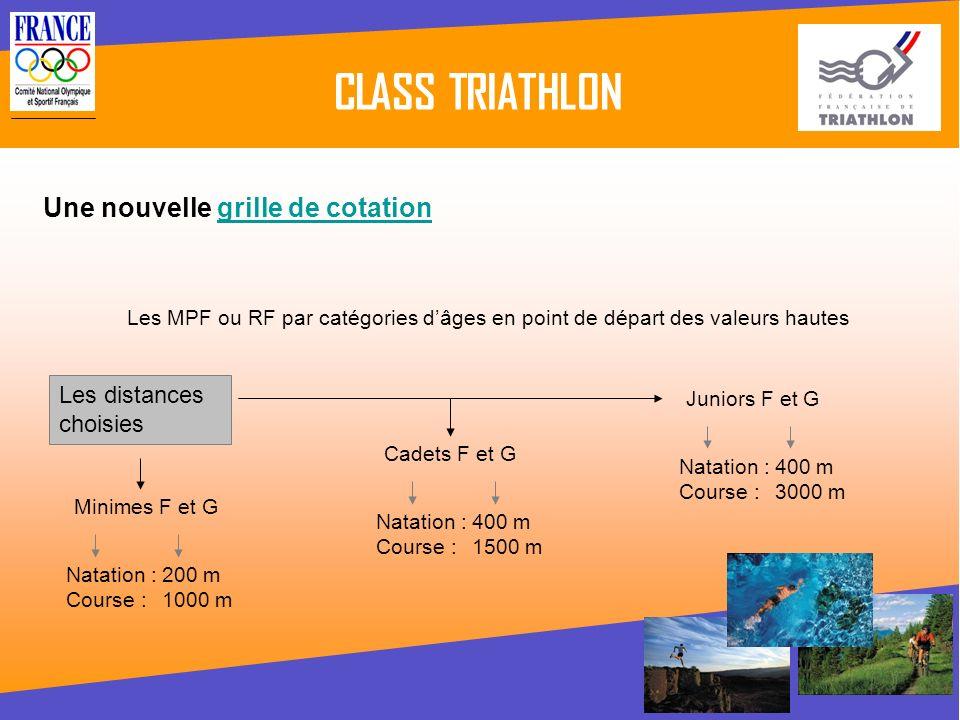 CLASS TRIATHLON Comment alimenter le class triathlon .