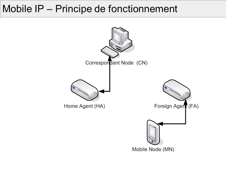 Mobilité du Service Maintenir laccès au service lors dun changement de dispositif ou de réseau daccès.