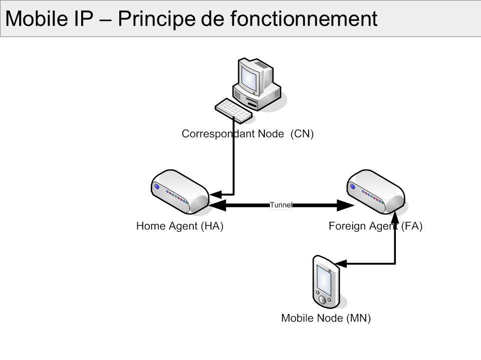 Mobilité du Service Utiliser des cartes mémoires : - Carte SIM pour les Cell.