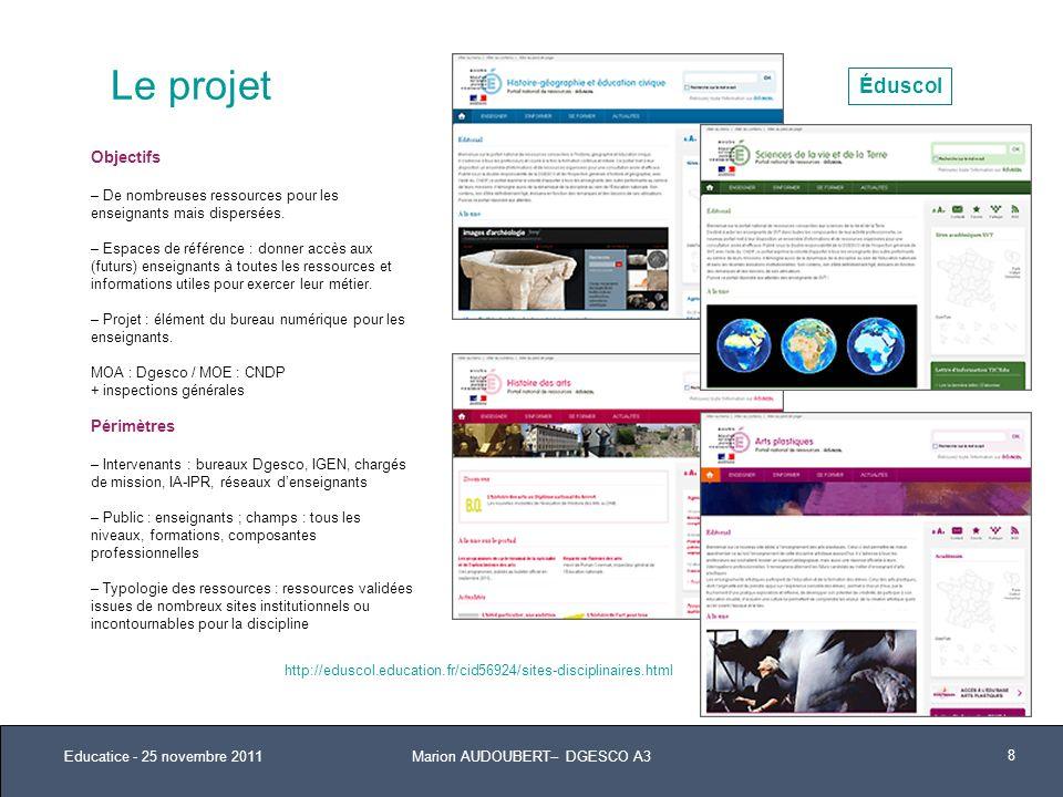 Niveaux 1 et 2 de larborescence générique Educatice - 25 novembre 2011 9 I / ENSEIGNER 1.