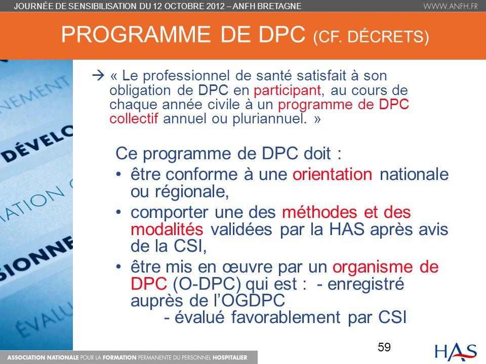 PROGRAMME DE DPC (CF.