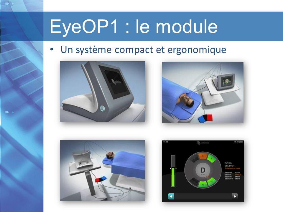 Titre de la présentation I Titre du chapitre I Version 1.1 I Date EyeOP1 : le module Un système compact et ergonomique