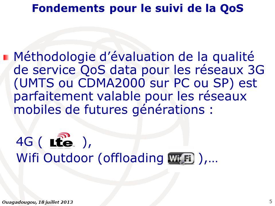 Plan de la présentation Introduction : fondements QoS… Le service Internet mobile 3G au Maroc Types de mesures : Internet mobile 3G sur PC, Internet mobile 3G sur Smartphones Mesures FTP ou HTTP Indicateurs mesurés Plate-forme serveurs de mesures Outils de mesures Conclusions et recommandations 26 Ouagadougou, 18 juillet 2013