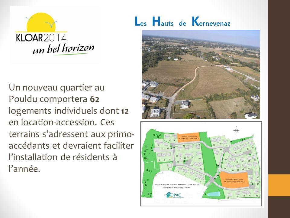 L es H auts de K ernevenaz Un nouveau quartier au Pouldu comportera 62 logements individuels dont 12 en location-accession.