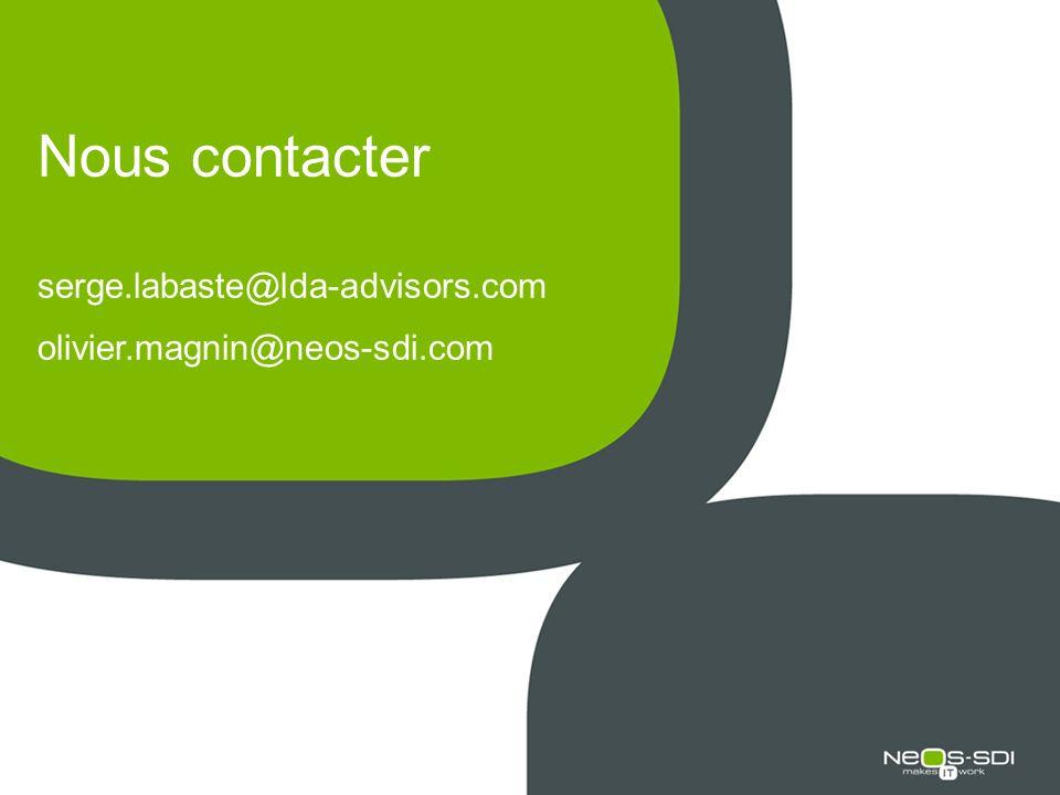 Nous contacter serge.labaste@lda-advisors.com olivier.magnin@neos-sdi.com