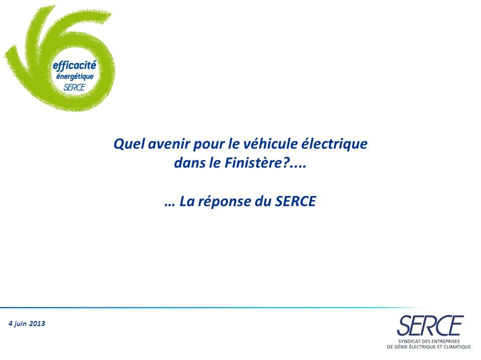 Le SERCE, cest … 260 entreprises de génie électrique et génie climatique 1200 implantations dans toute la France 120 000 salariés 16,3 Md de chiffre daffaires13 en génie électrique 3,3 en génie électrique 4 juin 2013