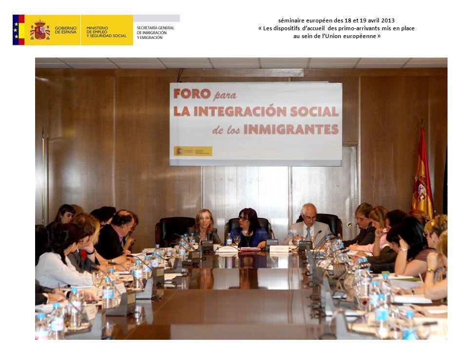 séminaire européen des 18 et 19 avril 2013 « Les dispositifs daccueil des primo-arrivants mis en place au sein de lUnion européenne »