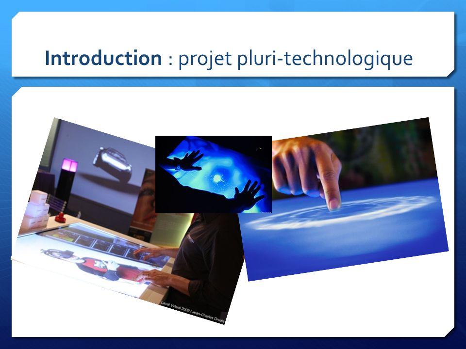 OBJECTIFS Il sagit : de concevoir une table multimédia tactile en utilisant des technologies simples.