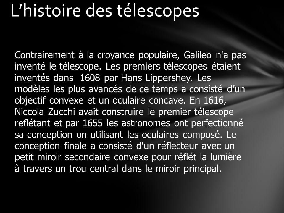 Contrairement à la croyance populaire, Galileo n a pas inventé le télescope.