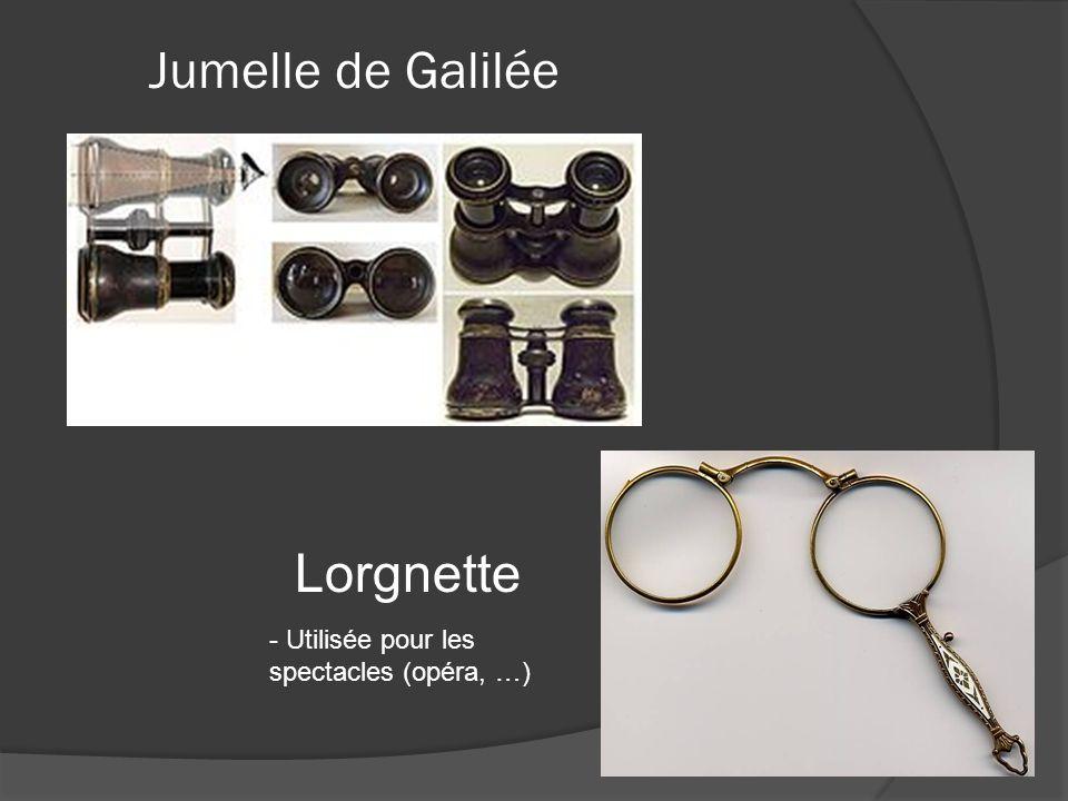 Jumelle de Galilée Lorgnette - Utilisée pour les spectacles (opéra, …)