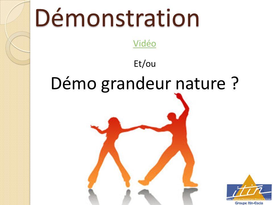 Démonstration Vidéo Et/ou Démo grandeur nature