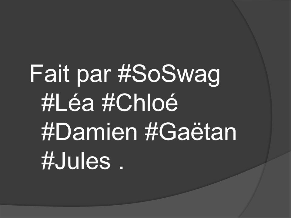 Fait par #SoSwag #Léa #Chloé #Damien #Gaëtan #Jules.