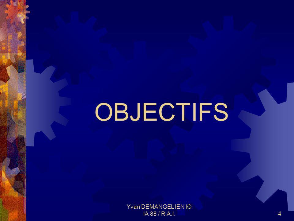 Yvan DEMANGEL IEN IO IA 88 / R.A.I.4 OBJECTIFS