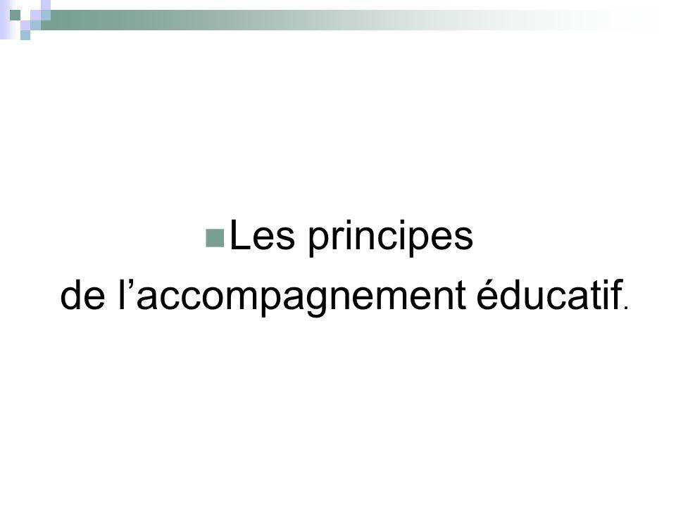 Les principes de laccompagnement éducatif.