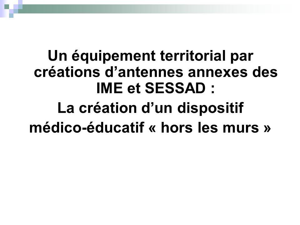 Un équipement territorial par créations dantennes annexes des IME et SESSAD : La création dun dispositif médico-éducatif « hors les murs »